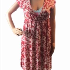 Love rocks Beautiful red/white floral dress large